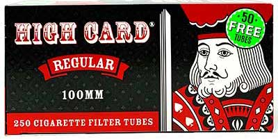 High Card Regular 100 Size Cigarette Tubes 250ct