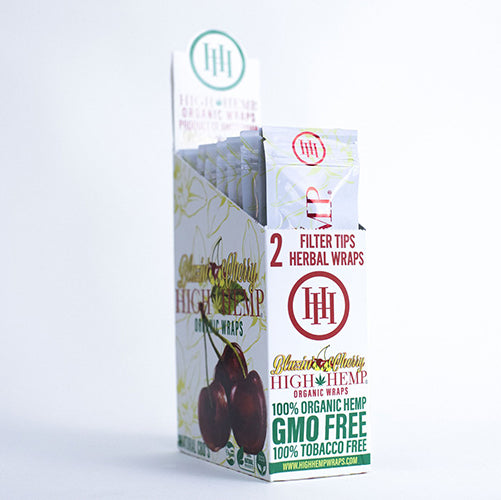 High Hemp Organic Blazin Cherry Wraps 25ct