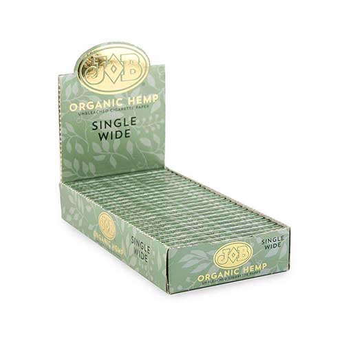 Job Organic Hemp Single Wide Rolling Papers 24ct Box