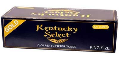 Kentucky Select Gold King Size Cigarette Tubes 200ct