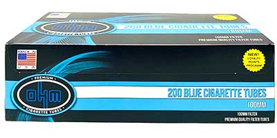 OHM Cigarette Tubes Blue 100 200 ct