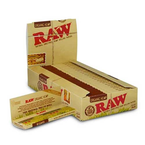 RAW Organic Hemp 1 1 4 Rolling Papers 24ct Box