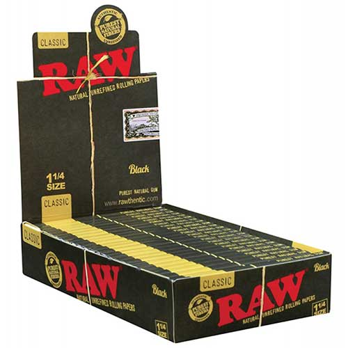 RAW Black 1 1 4 Rolling Papers 24ct Box