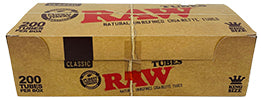 Raw Cigarette Tubes King Size 200 Ct