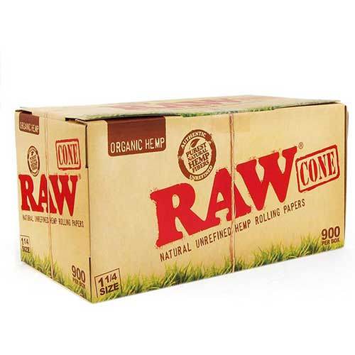 RAW Organic Hemp Cones 1 1 4 32ct Box