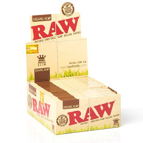 RAW Organic Hemp King Rolling Papers 50ct Box