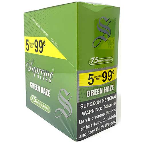Supreme Blend Cigarillos Green Haze 15ct