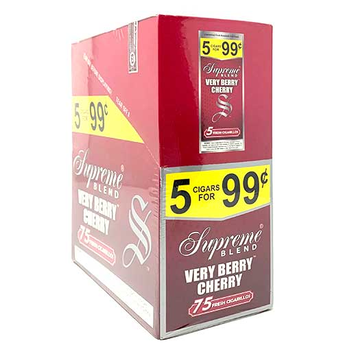 Supreme Blend Cigarillos Very Berry Cherry 15ct