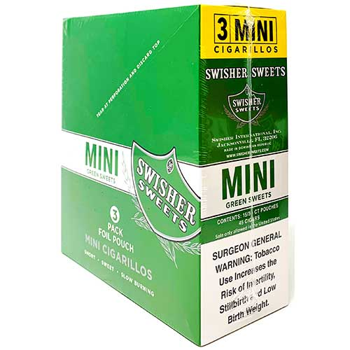 Swisher Sweets Mini Cigarillos Green Sweet 15ct