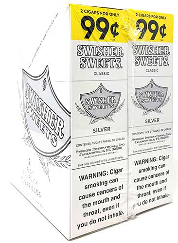 Swisher Sweets Cigarillos Silver 30 Count Box