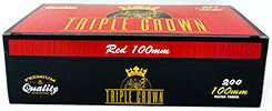 Triple Crown Cigarette Tubes Red 100 200ct