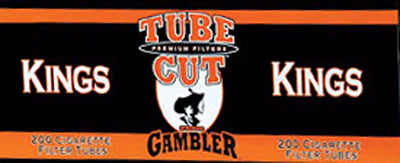 Gambler Tube Cut Cigarette Tubes Full Flavor 200CT BOX