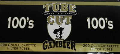 Gambler Tube Cut Cigarette Tubes Light 100s 200CT Box