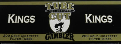 Gambler Tube Cut Cigarette Tubes Light 200CT Box