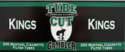 Gambler Tube Cut Cigarette Tubes Menthol 200CT Box