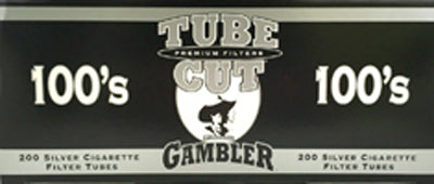 Gambler Tube Cut Cigarette Tubes Ultra Light 100s 200CT Box