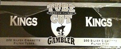 Gambler Tube Cut Cigarette Tubes Ultra Light 200CT BOX