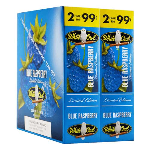 White Owl Cigarillos Blue Raspberry 30ct