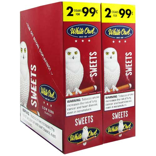 White Owl Cigarillos Sweets 30 Count Box