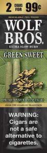 Wolf Bros Green Sweet Cigarillos