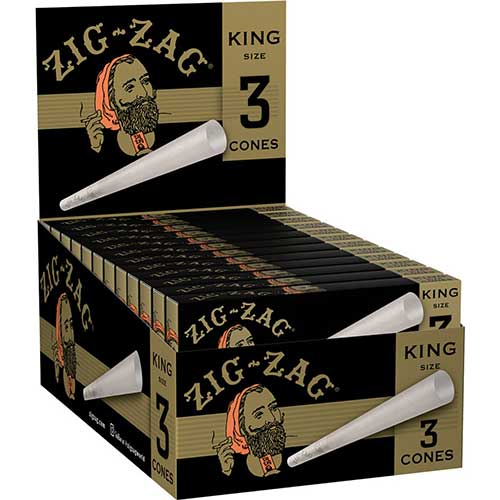 Zig Zag Cones King Size 24 Packs of 3