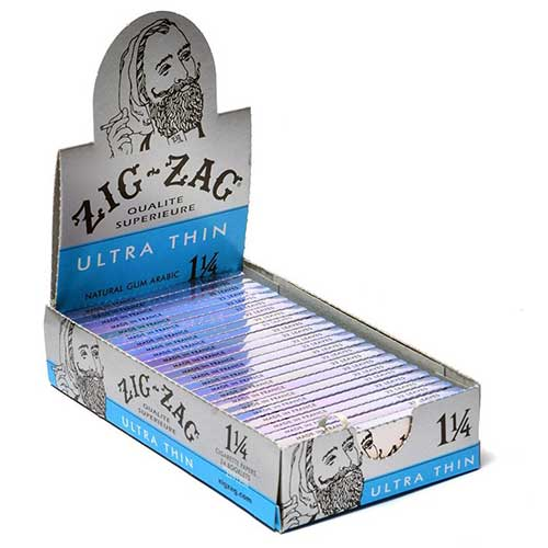 Zig Zag Ultra Thin 1 1 4 Rolling Papers 24ct Box