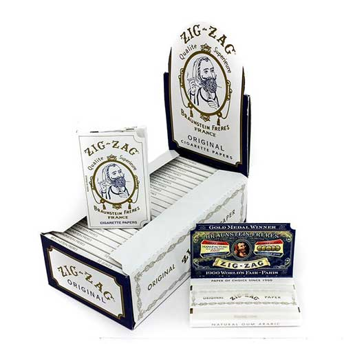 Zig Zag White Single Width Rolling Papers 24ct Box