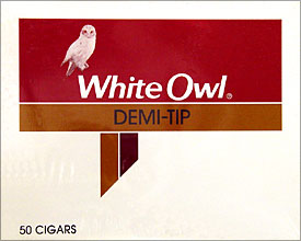 White Owl Demi Tip Cigars 50 Count Box