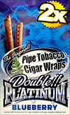 Double Platinum Blunt Wraps Blueberry 25 Packs of 2