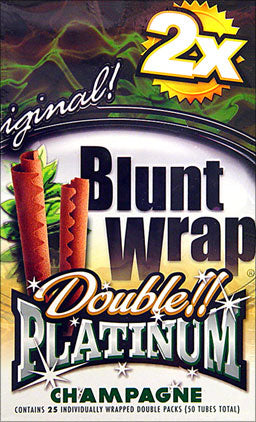 Double Platinum Blunt Wraps Champagne 25 Packs Of 2
