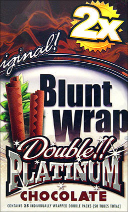 Double Platinum Blunt Wraps Chocolate 25 Packs Of 2