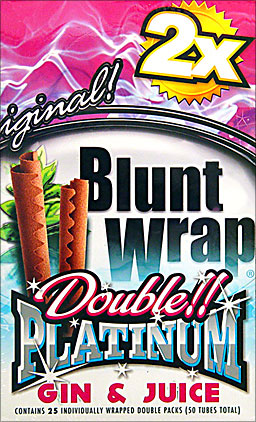 Double Platinum Blunt Wraps Gin and Juice 25 Packs Of 2