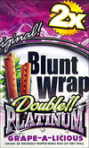 Double Platinum Blunt Wraps Grape 25 Packs of 2