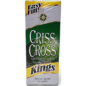 Criss Cross Menthol Cigarette Tubes 200ct