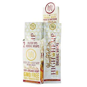 High Hemp Organic Honey Wraps 25ct