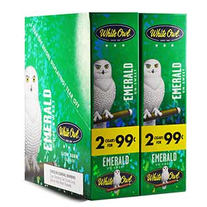 White Owl Cigarillos Emerald 30ct