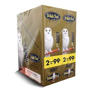 White Owl Cigarillos Honey 30 Count Box