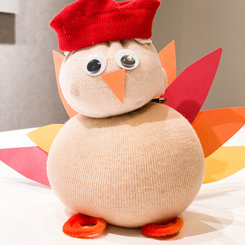 Thanksgiving Turkey DIY fall art craft for kids