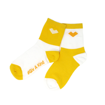Yellow Sock or Kind Socks by GivKind