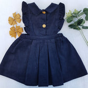 Gia Navy Corduroy Dress - Luna Bella Designs Melbourne | Kids Clothing
