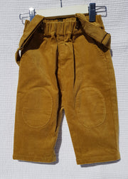 Boy's Mustard Corduroy Overalls - Luna Bella Designs Melbourne | Kids Clothing