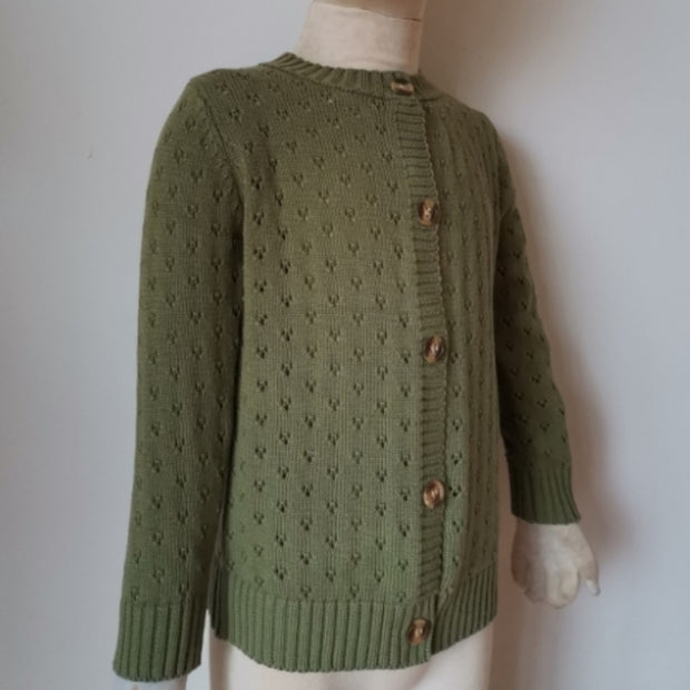 Olive Green Cardigan - Luna Bella Designs Melbourne | Kids Clothing