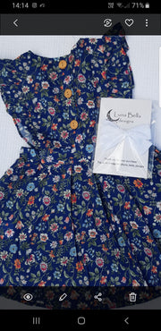 Giulia floral pinafore dress - Luna Bella Designs Melbourne | Kids Clothing