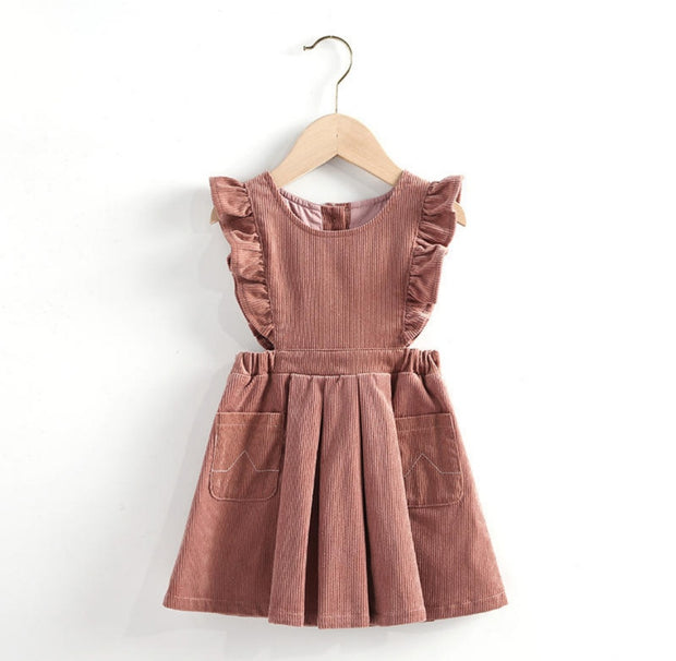 Gia Pink Luxe Corduroy Dress - Luna Bella Designs