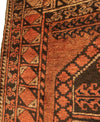 Antique Turkmen Ersari Long Rug 3'9 x 7'2