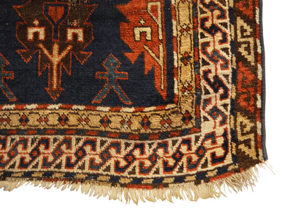 Antique Caucasian Avar Small Rug 2'10 x 4'2