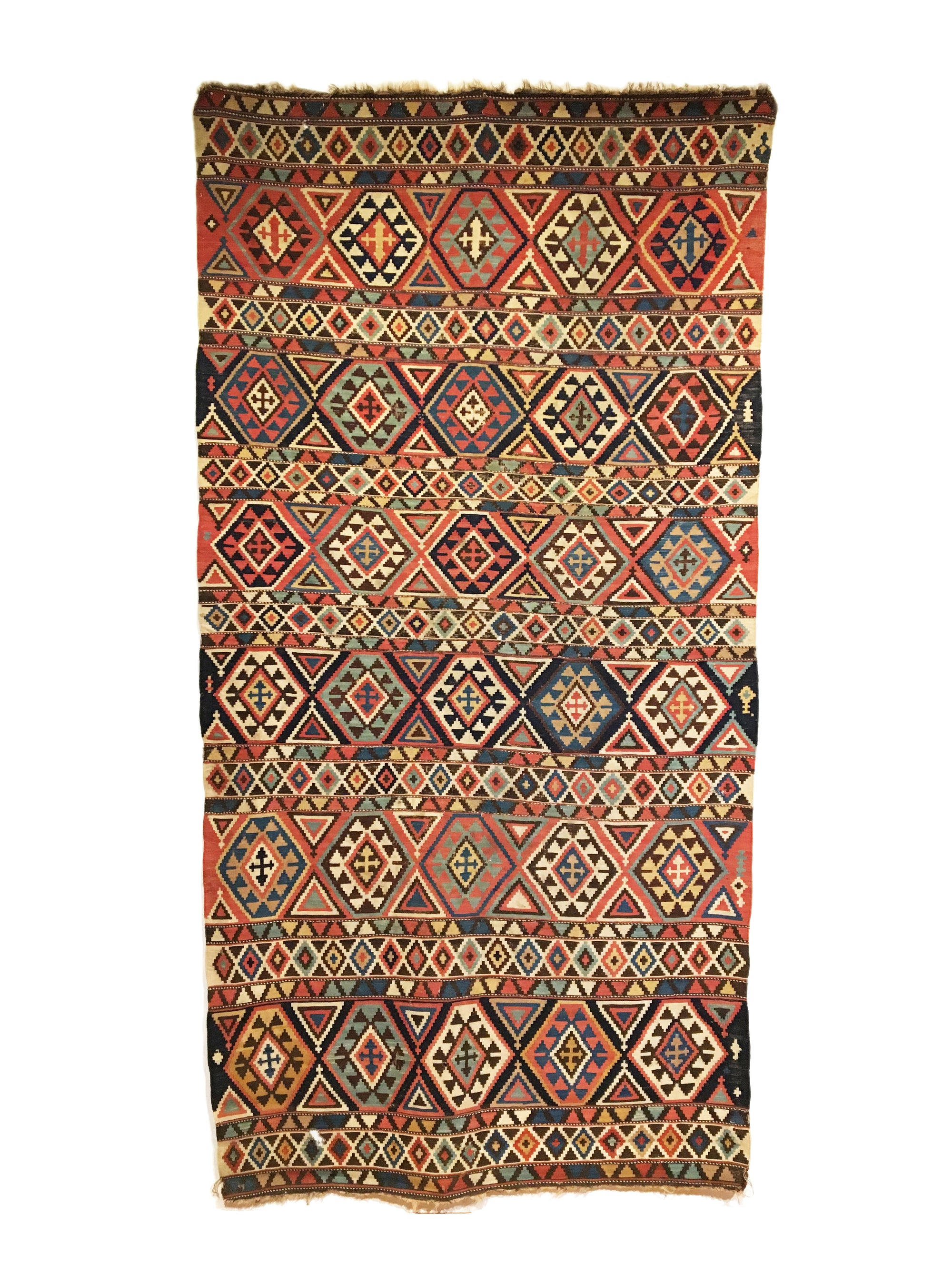 Antique Caucasian Shirvan Kilim 4'9 x 9'3