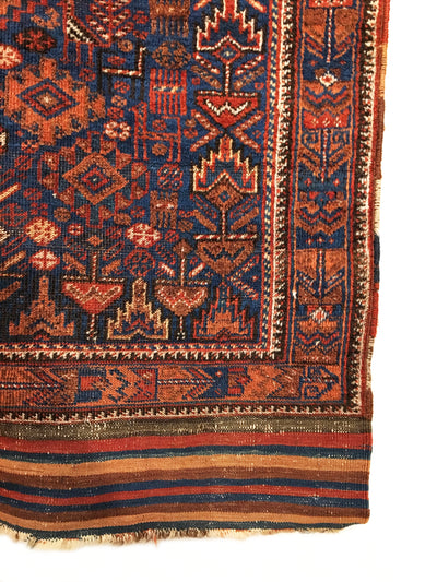 Antique Persian Afshar Long Rug 4'3 x 7'10