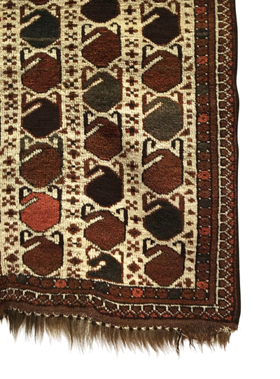 Antique Turkmen Small Rug 2'7 x 4'4