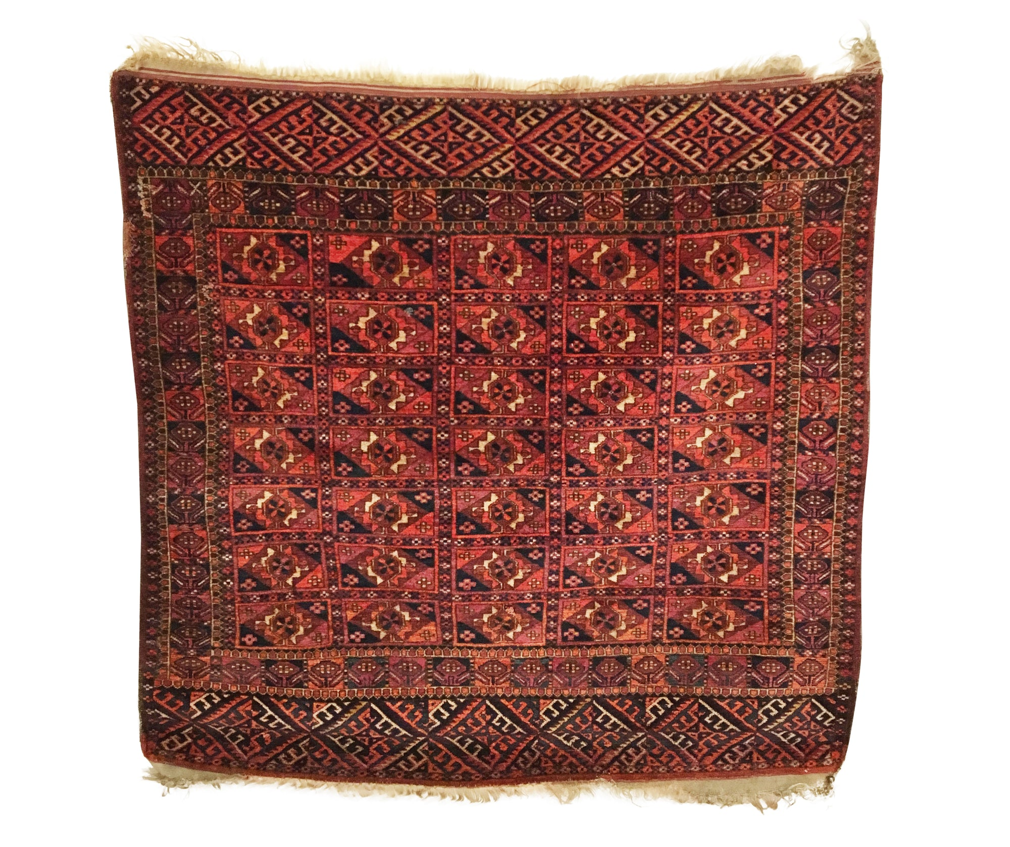 Antique Turkmen Tekke Rug 3'5 x 3'4